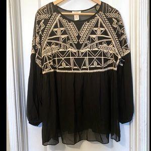 Sundance • embroidered silk top